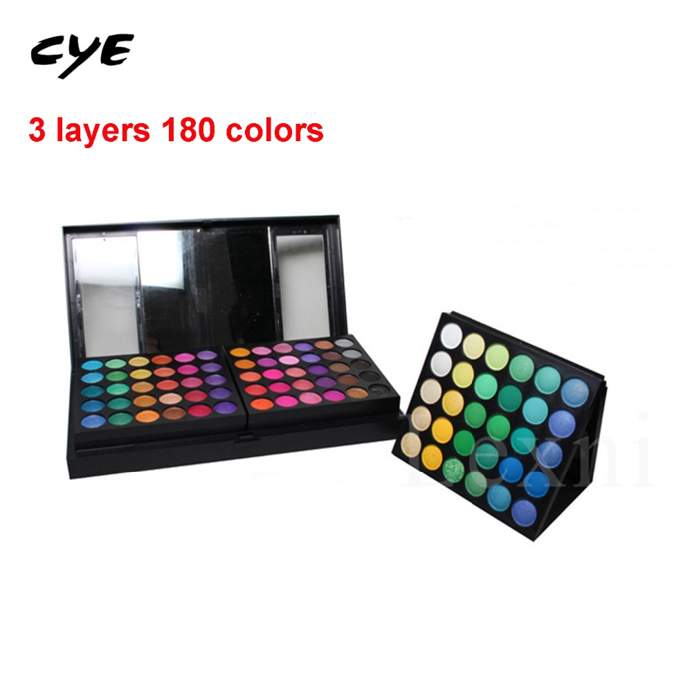ФОТО 2016 Full Combination Cosmetic Makeup Palette 180 Colors Eyeshadow Primer Luminous Eye shadow Palette Lady Beauty Cosmetic party