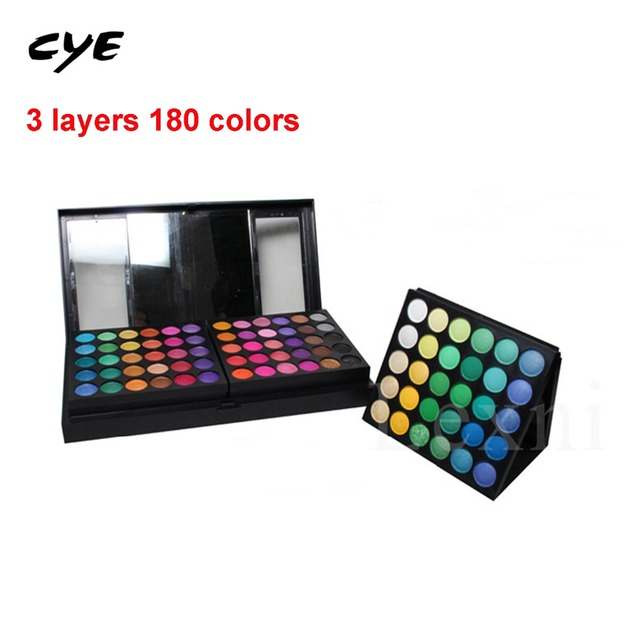 2016 Full Combination Cosmetic Makeup Palette 180 Colors Eyeshadow Primer Luminous Eye shadow Palette Lady Beauty Cosmetic party