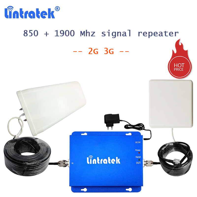 Lintratek 850mhz signal celular repeater 1900mhz 3G Band 1 telephone amplifier cdma 850 signal + 1900 pcs 2g booster 17g-cp 42Lintratek 850mhz signal celular repeater 1900mhz 3G Band 1 telephone amplifier cdma 850 signal + 1900 pcs 2g booster 17g-cp 42