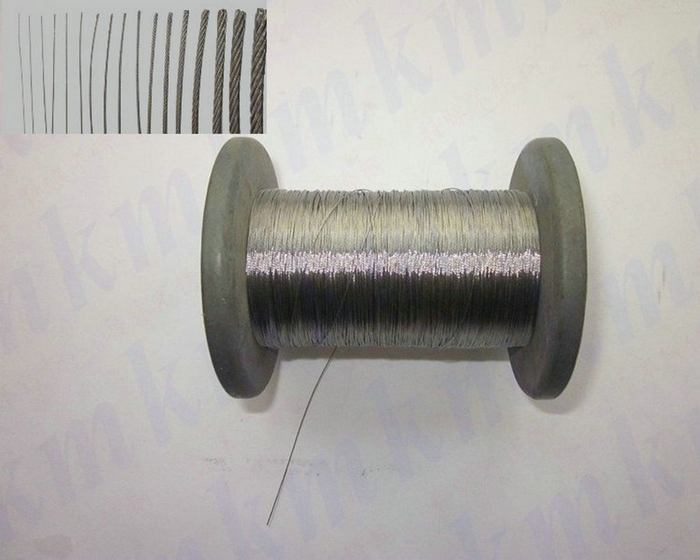 100M/Roll 7X7 Structure AISI 304 0.6 MM Diameter Stainless Steel Wire Rope 3mm 7 7 stainless steel 316 wire rope 7x7 strand core seaworthy marine grade