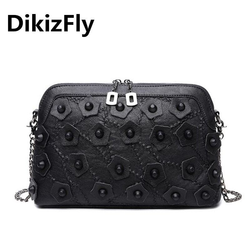 DikizFly High Quality women bags ladies party purse brand messenger crossbody bags Chains shoulder bag Fashion Shell handbags