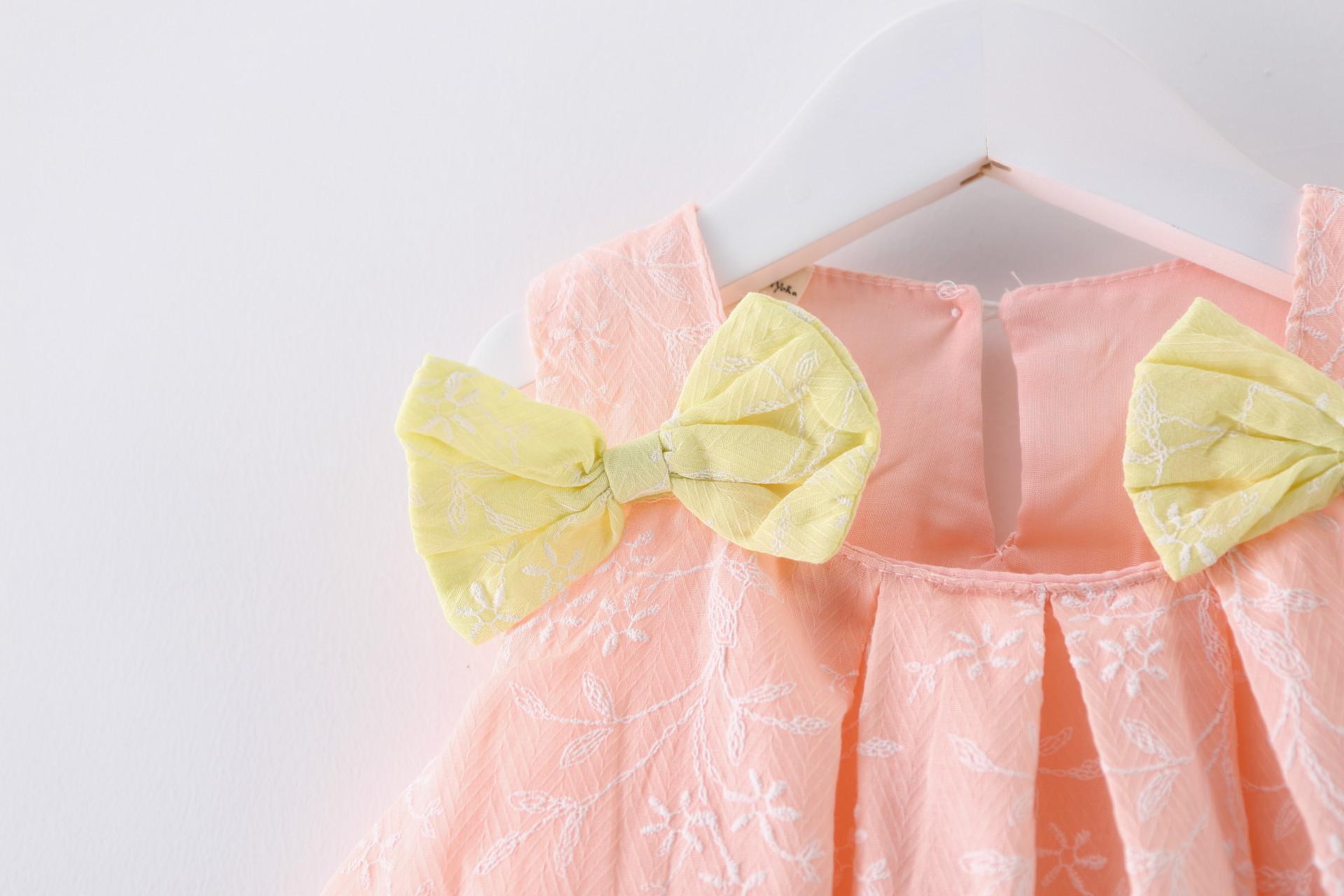 HTB1tD7okuGSBuNjSspbq6AiipXaa - 2018 New Brand Princess Dress Sleeveless Cotton Kids Dresses For Girls Bow Children Toddler Girl Dresses