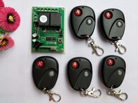 New DC12V 2CH RF Wireless Remote Control Switch System Transmitter With Two Button Receiver For Appliances