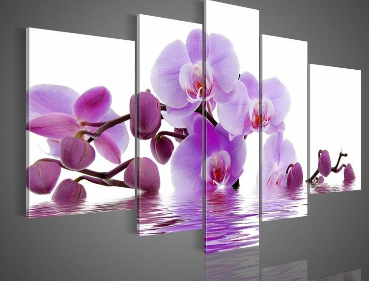Purple Wall Decor popular oil painting purple-buy cheap oil painting purple lots