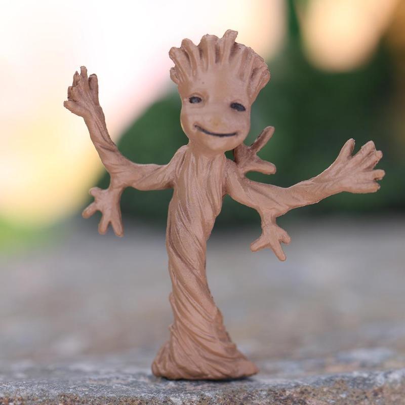 37 * мм 30 мм Дерево человек ребенок фигурку Grootted кукла грунт стражи Галактики модель игрушки статуя украшения Грут игрушка для детей