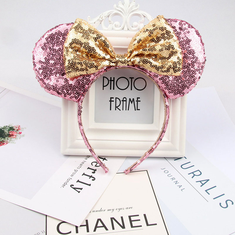 Headwear Hairband Sequin Bow Headband for Girls Minnie Mouse Ears Hairbands Birthday Party Kids Fashion Hair Accessories 13