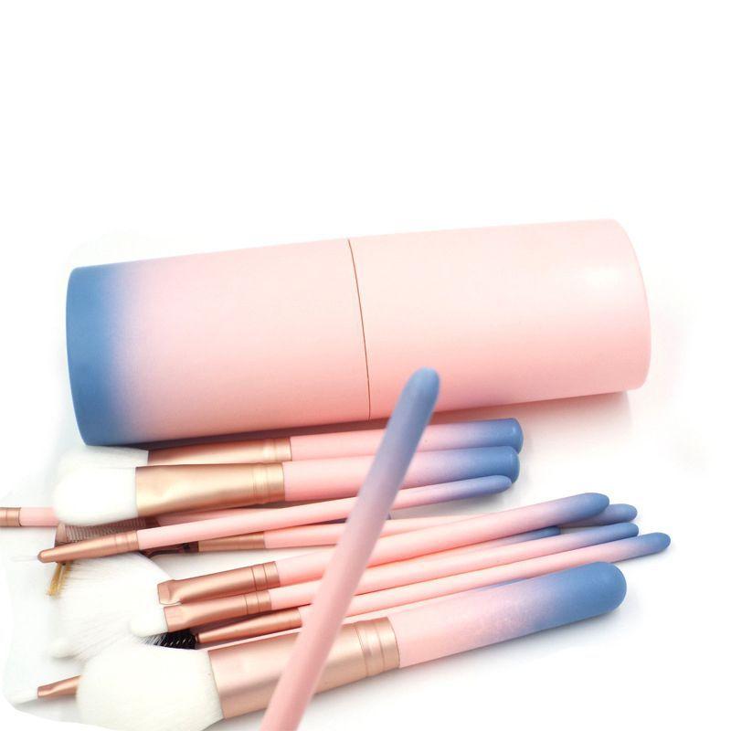 Hot! 12pcs/lot Pro Makeup Brushes Set Foundation Powder Eyeshadow Eyeliner Lip Brush Tools Highlighter Brushes WR52