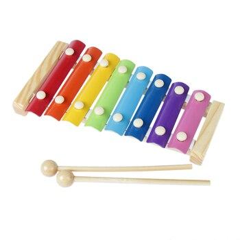Khung gỗ 8 vảy gõ xylophone piano trẻ em kid musical toys âm nhạc cụ đồ chơi đầu học nhạc toy k5bo