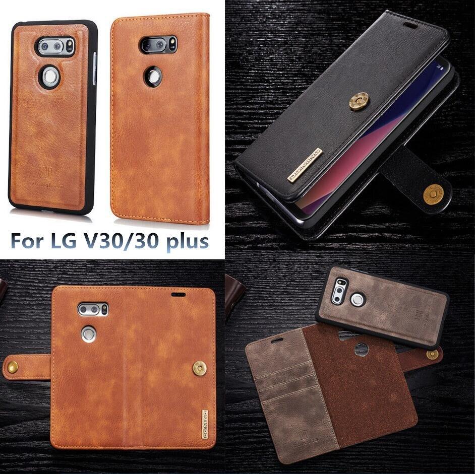 Для LG V30/V30 плюс Роскошные модные Съемная Магнитный стенд PU кожа кредитных карт кошелек Флип Защитный чехол Крышка