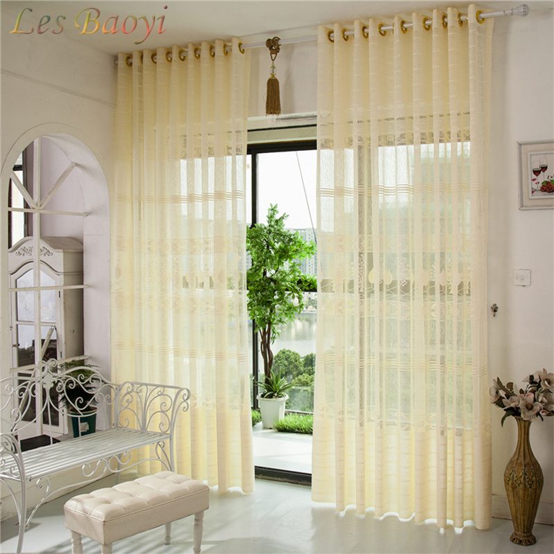Curtain For Balcony: Les Baoyi Luxury Decorative Curtains Jacquard Beige