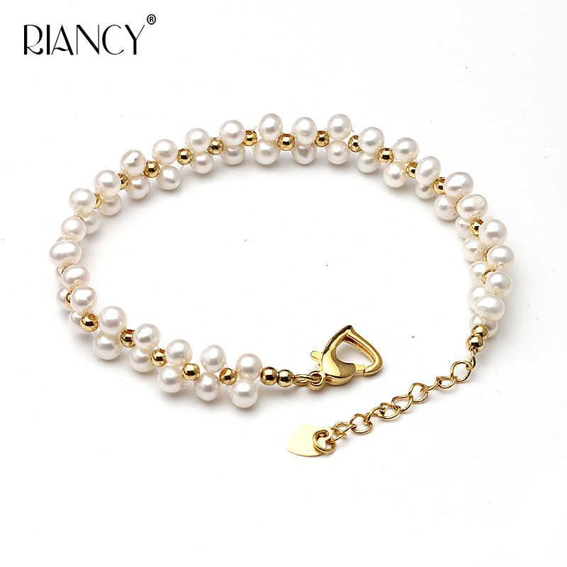 Fashion Pearl Bracelet Jewelry Natural freshwater Pearl Bracelet 925 Sterling Silver Jewelry Bracelet for wedding