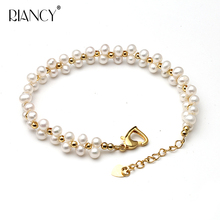Fashion Pearl Bracelet Jewelry Natural freshwater 925 Sterling Silver for wedding