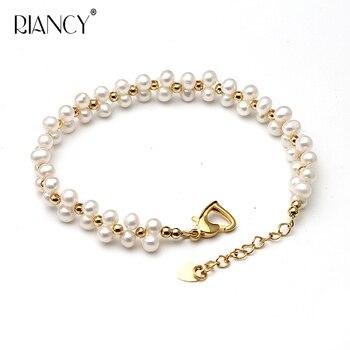 bc15d2b64689 Perlas de moda pulsera de la joyería de perlas naturales de agua dulce  pulsera 925 pulsera de plata esterlina pulsera de la joyería para boda