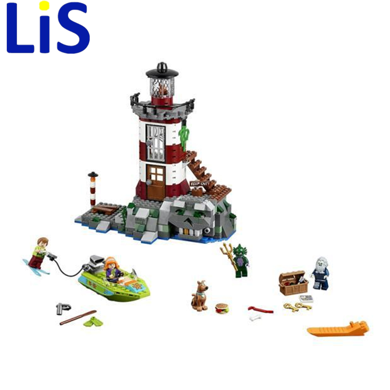 Lis 437pcs Bela 10431 Haunted Lighthouse Scooby Doo Dog Model Bricks Blocks 3D Kids Toy Gifts  Lepin