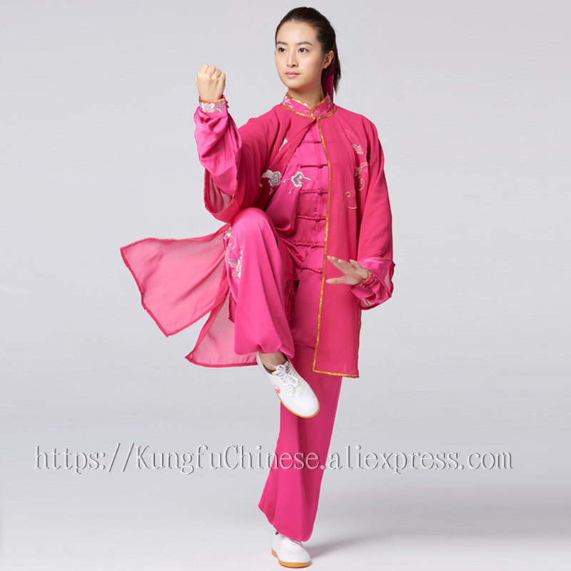 Chinese Tai chi clothing taiji performance suit wushu demo kungfu uniform embroidery for women girl children