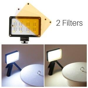 Image 4 - Ulanzi CardLite Mini LED Video Camera Light Dimmable Portable 5500K Photographic Lighting for iPhone X 8 7 Samsung  Nikon Canon