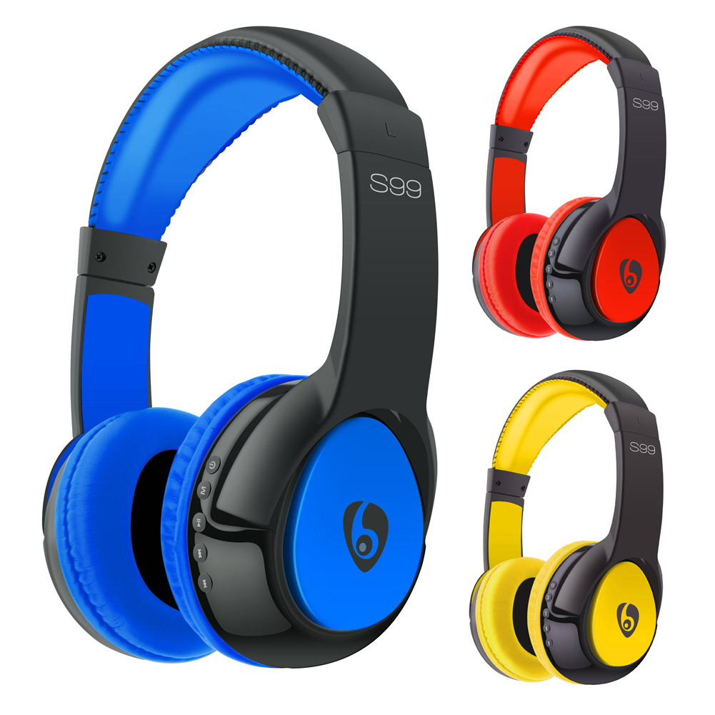 S99 Wireless 4.0 Bluetooth Headset Headphone Stereo Earphone with Microphone with TF Slot for Smartphone Phone FW1S rock y10 stereo headphone earphone microphone stereo bass wired headset for music computer game with mic