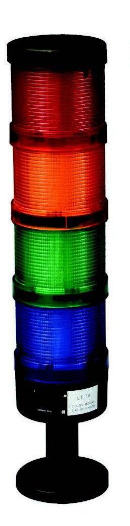 8 Вт 12/24/110/220 В постоянного тока 4 слоя светодиодный сигнал светящаяся башня/промышленная ABS лампа ровного света Предупреждение ющий свет(LT-70-4