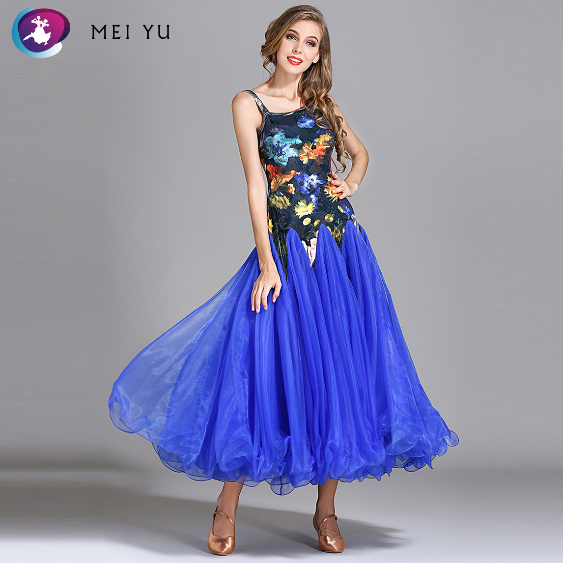 Ballroom Systematic Mei Yu My793 2018 New Modern Dance Costume Waltzing Tango Women Adult Lady Dancing Dress Ballroom Costume Evening Party Dress