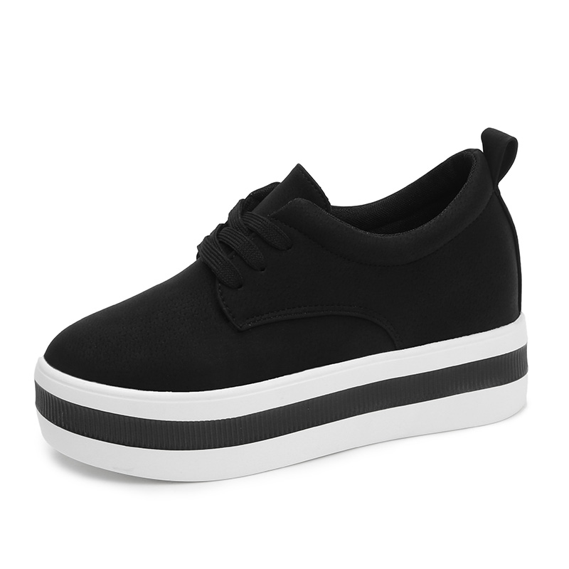 Image 3 - Women New Spring summer Faux Suede Shoes Casual Lace Up Sneakers Female Platform Shoes Ladies Flats Size 35 40 n969-in Women's Flats from Shoes