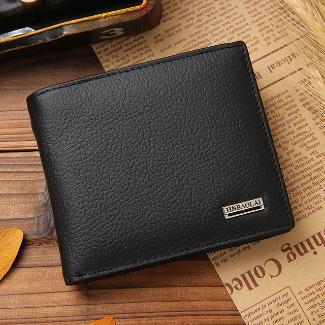 d7df348a2608b Hot Sale New Style Men s Wallets Real Genuine Leather Hasp Design With Coin  Pocket Fashion Quality