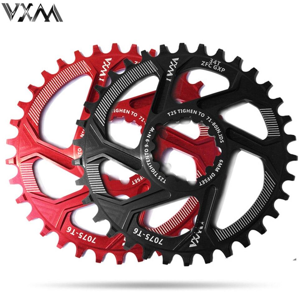 VXM Bicycle Chainwheel 30T 32T 34T 36T 38T Narrow Wide Bicycle Chainring For GXP XX1 X9 XO X01 CNC AL7075 Crankset Bicycle Parts