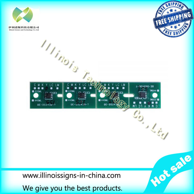 ФОТО One-time Chip for Mimaki JV3 SS1 Cartridge 4 colors CMYK printer parts-84439990