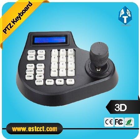 Bon marché Mini 3D CCTV clavier contrôleur Joystick pour RS485 PTZ vitesse dôme caméra Support pelco-d protocole 4 axes