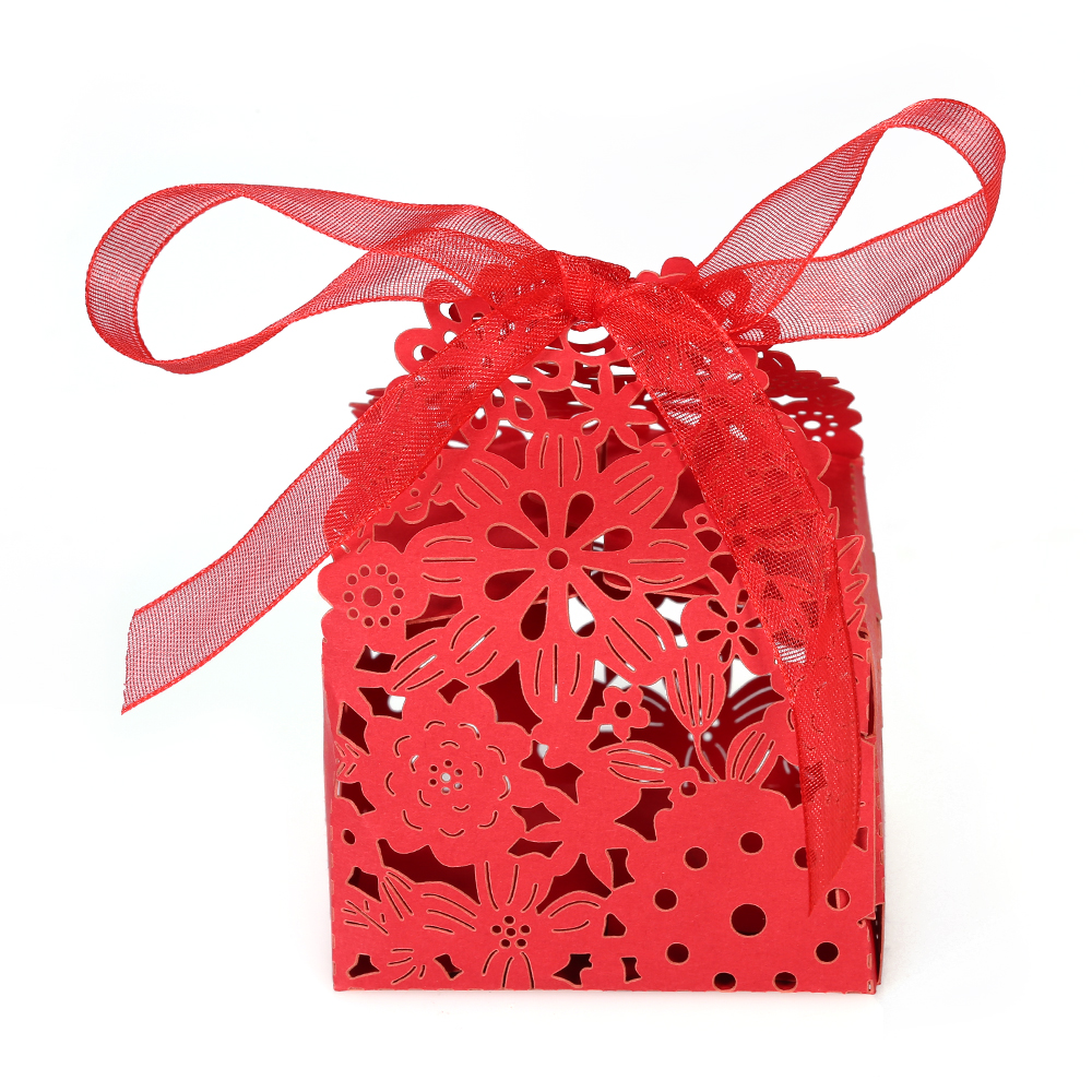 10 Stks Delicate Gesneden Bloem Elegante Dozen Snoep Met Lint Huwelijksgeschenken Voor Party Verjaardag Bruiloft Banket Bruids Douche Betrouwbare Prestaties