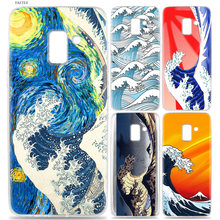 YAETEE Sea Wave Art Spray Case for Samsung Galaxy J6 S9 S8 J8 J4 A6 A8 Plus J2 J3 J5 S7 S6 Edge 2018 2017 Note 9 8 Core(China)