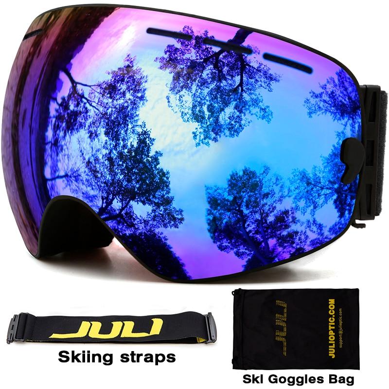 f58b843cd744e Óculos de esqui, A JULI Marca Camadas Duplas UV400 óculos de Proteção Anti- fog Máscara De Esqui Óculos de Esqui Das Mulheres Dos Homens de Esportes de  Neve ...