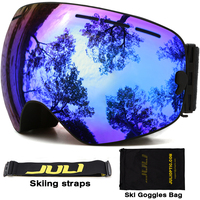Double Layer Large Spherical Snow Goggle Spectacal Compatible UV400 Anti Fog Big Ski Mask Ski Goggles