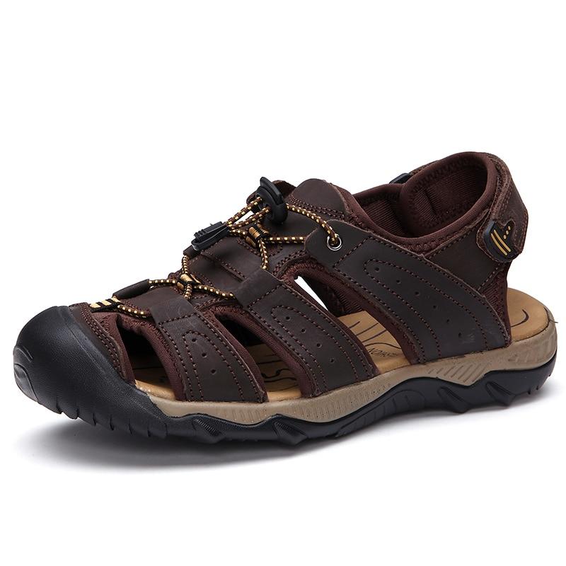 vietnam skor krok slinga utomhus sommar sandaler för män 2017 ashionable casual manliga sandaler glidbeständig hombre sandalias
