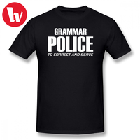 Sarcastic   T     Shirt   Grammar Police To Correct And Serve   T     Shirts   Funny Cotton Casual   T  -  Shirt   Male Short Sleeve Cute Tee   Shirt