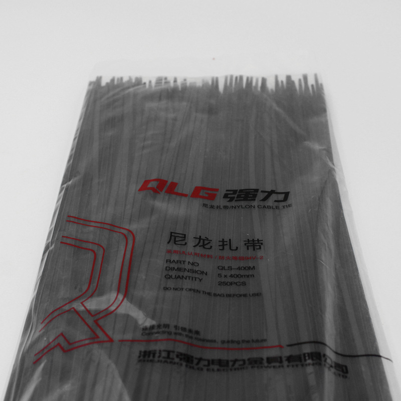 250Pcs/pack 5*400mm high quality width 3.8mm Black color Factory Standard Self-locking Plastic Nylon Cable Ties,Wire Zip Tie 500 250pcs 4x150 180 200 250 300 350 mm black white yatai brand plastic self locking nylon cable tie plastic ribbon installed