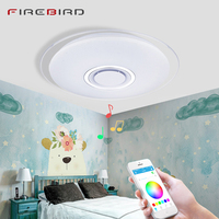 Modern LED Ceiling Lights RGB Dimmable 36W 450mm 52W 550mm APP Remote Control Bluetooth Music Lamp Bedroom Smart Ceiling Lamps