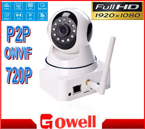 iSO android smartphone surveillance HD 720P IP CCTV Camera WIFI two-way audio,pan/tilt Plug play home security support onvif nvr