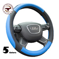 5 Colors Micro Fiber Leather Car steering wheel cover Genuine Leather  Steering Wheel Covers for audi easy Installation