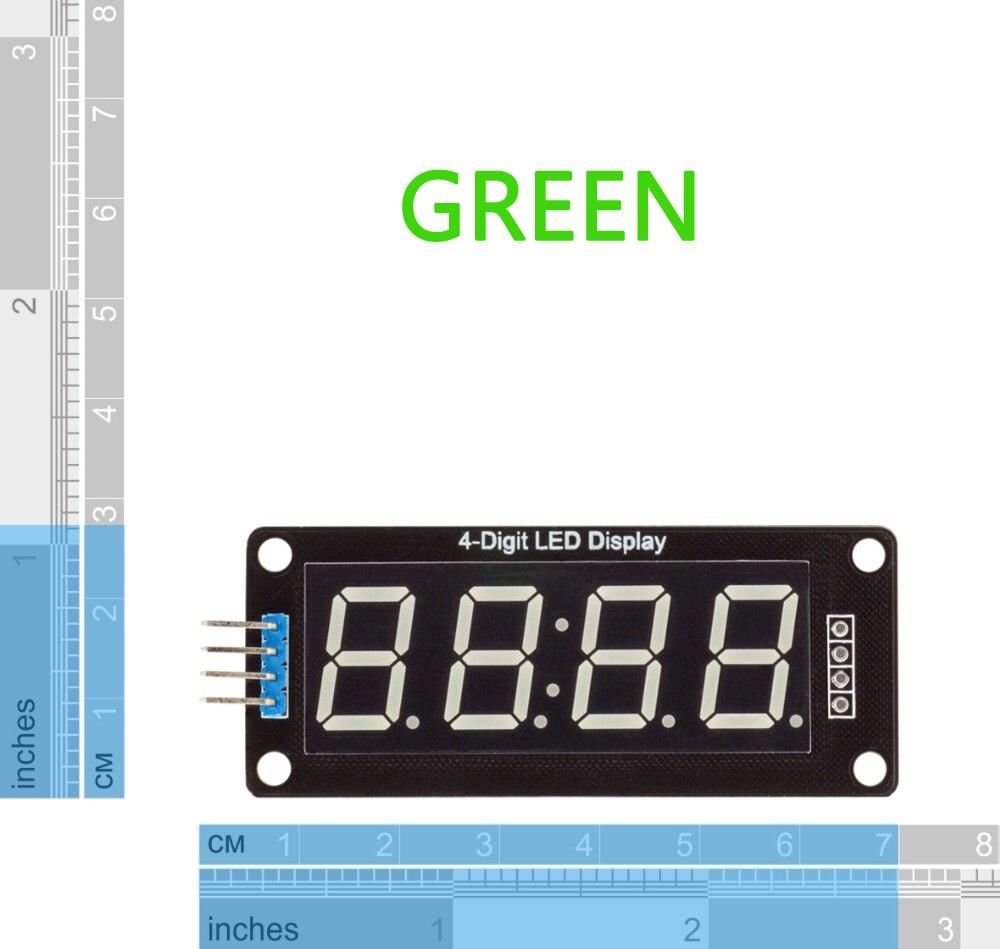 Tm1637 4-разрядный светодиодный 0.56 Дисплей трубки десятичной 7 сегментов tm1637 часы с двойным точек модуль 0.56 дюймов зеленый дисплей для Arduino