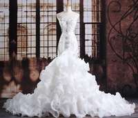 Ensotek 2019 Luxurious Sweetheart Wedding Dress Crystals Mermaid Wedding Gowns Princess Bridal Dresses vestido de noiva curto