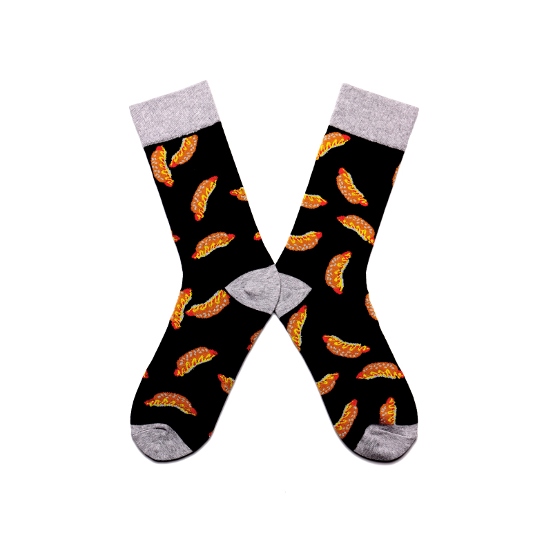 Men Socks Funny Panda Penguin Tiger Sushi Automobile Happy Hip-hop Harajuku Street Style Male Fashion Casual Skate Cotton Socks Suitable For Men And Women Of All Ages In All Seasons Men's Socks