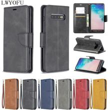 Luxury stand flip holster for Samsung Galaxy S10 Plus E A7 2018 A750 Note 9 A6 faux leather phone case
