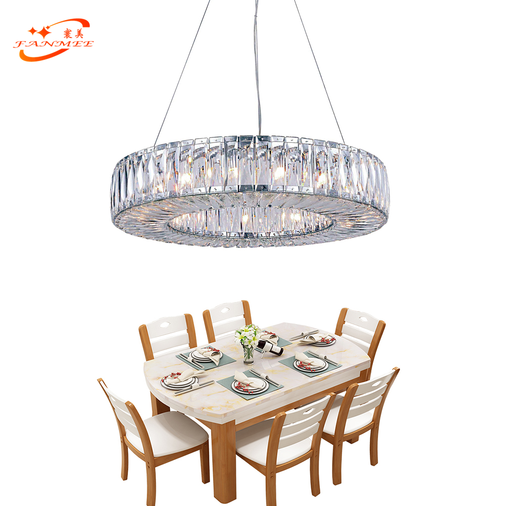Round Chandelier Crystal Light Modern Cristal Lighting Fixture Luxury Hanging Lamp LED Chandeliers