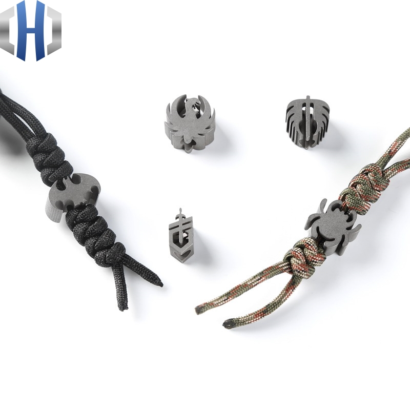 TC4 Titanium Alloy Knife Pendant Umbrella Rope Pendant Folding Knife Straight Knife EDC Paracord knife Beads