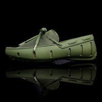 2019 Plus Size 46 Men Cool Slip On Flats Loafers Male Casual Mesh Green Comfortable Flats Adult Breathable Blue Quality Shoes