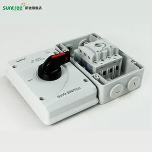Image 4 - DC 1000 V 32A SISO PV DC Trennschalter für Solar System ON OFF Transer IP66 Wasserdichte Isolator schalter mit ABS Box