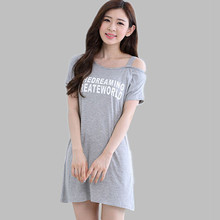 M L XL XXL Plus Size 2016 New Nightgowns For Women Nightgown Womens Sleepwear Cotton Sleepshirts Ladies Nightshirts E0444