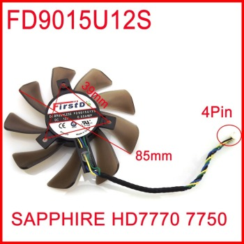 FD9015U12S 12V 0.55A 85mm 39x39x39mm For Sapphire HD7770 7750 Graphics Card Cooling Fan 4Pin image