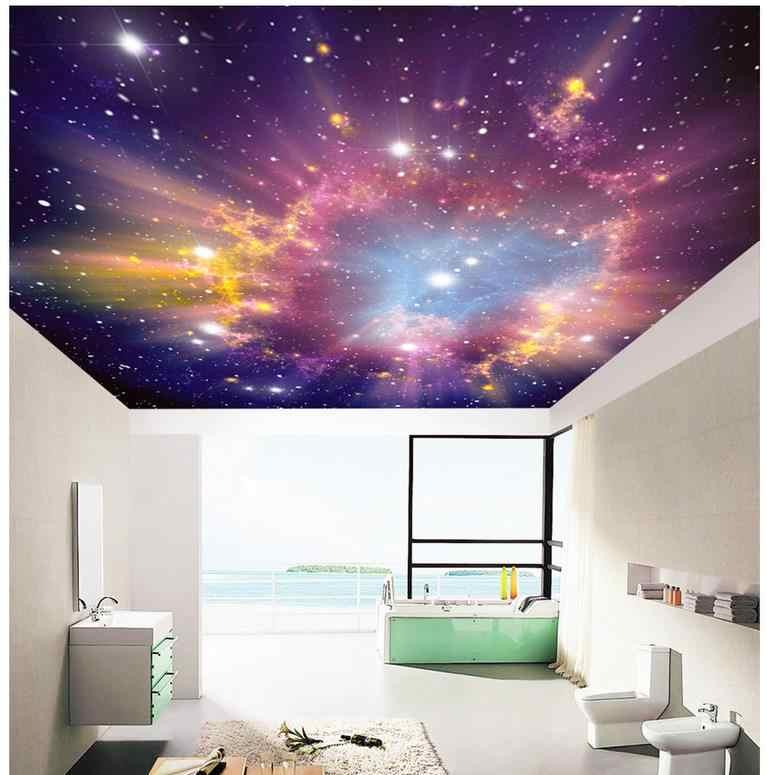 3d papel de parede sala Sonho Estrela teto da sala de estar Decoração de Casa Não tecido papel de parede papel parded