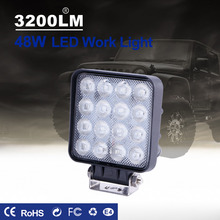 TC-X LED Work Light 16 x 3W Square Offroad Led 12/24V Extra Portable Flood Motor Tractor Truck Car Styling Wholesale